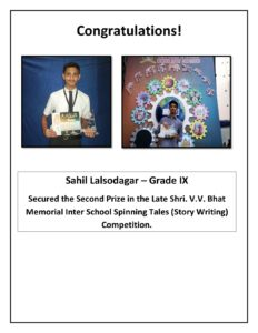 Late Shri. V. V. Bhat Memorial Trophy Competitions – 2016