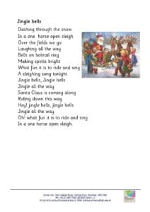 Playgroup – Rhymes for the month of November and December, 2018